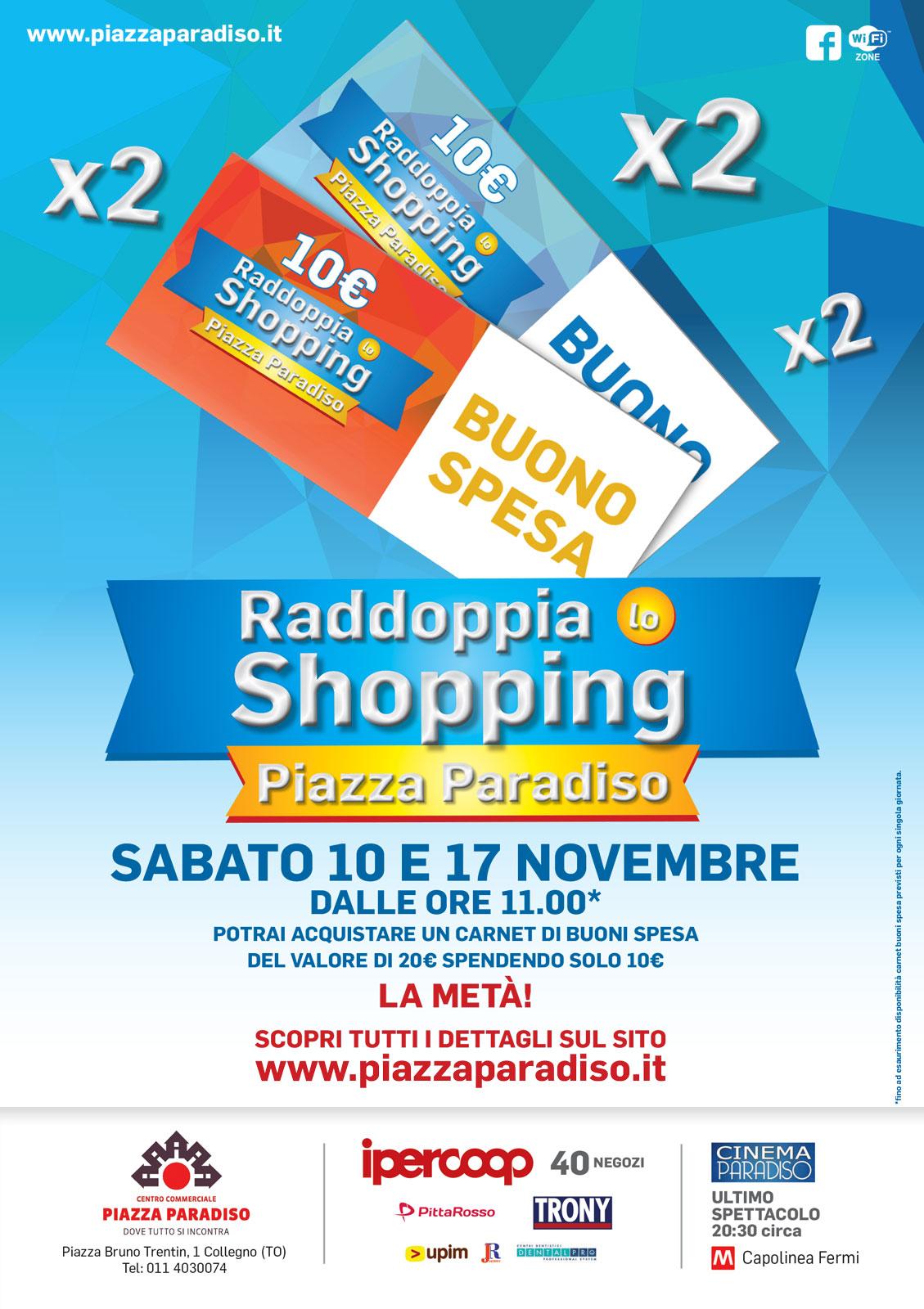 new arrival 62a44 2a060 A5-Raddoppia-lo-shopping-Sito - Piazza Paradiso